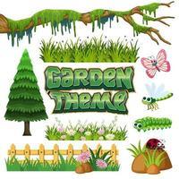 Set di elementi da giardino