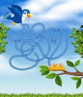 Concetto di puzzle uccello blu vettore