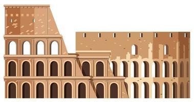 Colosseo nel punto di riferimento di Roma Italia vettore