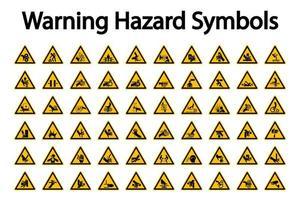 Insieme triangolare del segno di rischio d'avvertimento vettore
