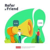 riferire un amico illustrazione