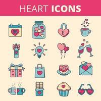 Set di icone del cuore