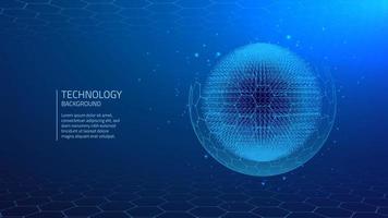 Sfondo blu tecnologia cibernetica vettore