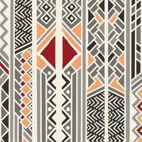 Modello etnico colorato bohemien con elementi geometrici