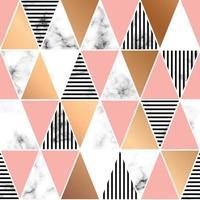 Marmo texture design con forme geometriche vettore