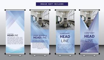 Morbida linea diagonale Roll Up Banner Template Set