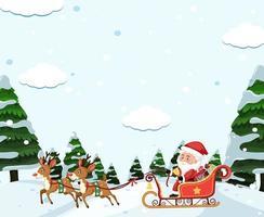 Slitta trainata da Babbo Natale