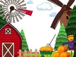 Scena di paesaggio agricolo