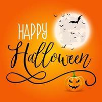 Sfondo di Halloween con testo decorativo vettore