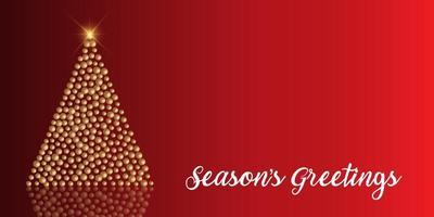 Sfondo di Natale con albero di palline