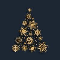Disegno scintillante dell'albero di Natale del fiocco di neve
