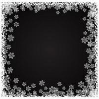Confine fiocco di neve di Natale vettore