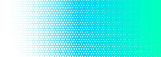 Banner punteggiato sfumato verde e blu