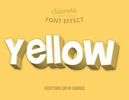 Testo sfalsato giallo, stile di testo modificabile vettore