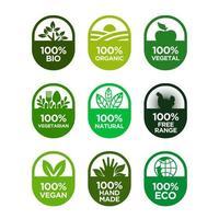 Set di icone di cibo sano e vita sana.