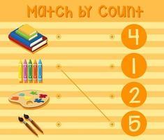 Un foglio di lavoro con numeri matematici