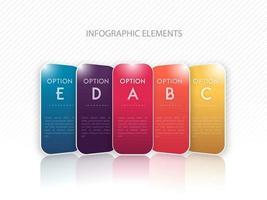 Progettazione del modello di opzioni colorate infografica vettore
