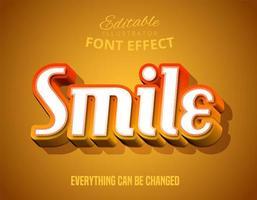 Effetto carattere modificabile in stile script moderno vettore