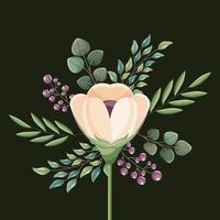 partecipazione di nozze del fiore vettore