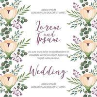 partecipazione di nozze del fiore