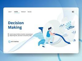 Processo decisionale sulla pagina di destinazione