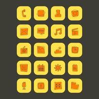 Set di icone di linea app di base vettore
