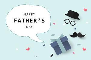 Fondo e bandiera felici della cartolina d'auguri di festa del papà