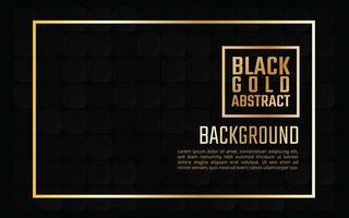 Elegante sfondo nero piastrellato oro vettore