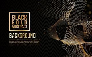 Sfondo nero elegante ricciolo d'oro vettore