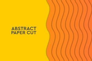 Geometrico astratto dell'onda arancione