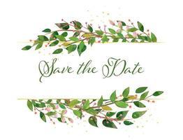 Salva la data moderna modello di carta floreale