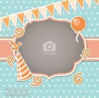 Modello di copertina per album di foto singole per feste per bambini vettore
