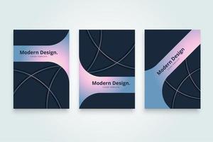 Modello di copertina gradiente di forma moderna