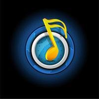 simbolo musicale con pulsante vettore