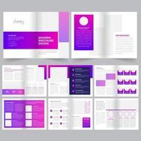 Modello di brochure aziendale pulito geometrico