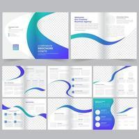 Modello Brochure - Profilo aziendale vettore