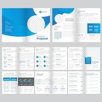 Modello dell'opuscolo di affari di 16 pagine vettore