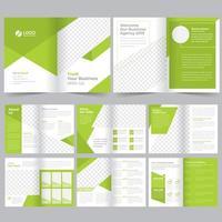 Modello opuscolo aziendale verde vettore