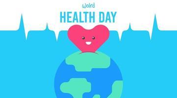 Illustrazione piana di giorno di salute di mondo