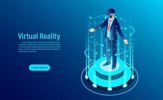 Pagina di destinazione della realtà virtuale vettore