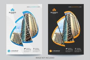 Modello di copertina di affari di immagine di 3 sezioni vettore