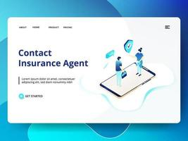 Contattare il modello di sito Web dell'Agente assicurativo