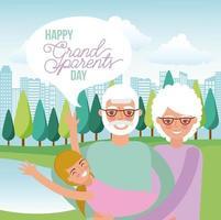 Felice giorno dei nonni vettore