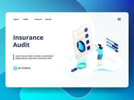 Modello di sito Web di audit assicurativo vettore