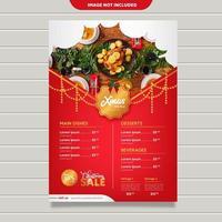 Vettore del modello del menu di Natale