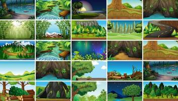 Set di scene di paesaggio sereno