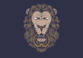 Testa di leone dal design classico vettore