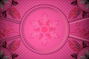 Sfondo rosa sfumato ornamentale vettore