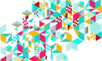 Astratto geometrico colorato
