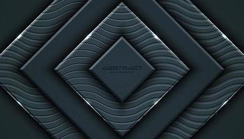 Sfondo di stile geometrico 3D grigio carbone vettore